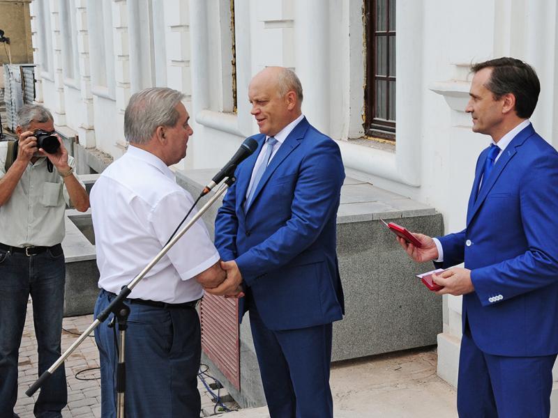 Церемония открытия Воскресенского собора